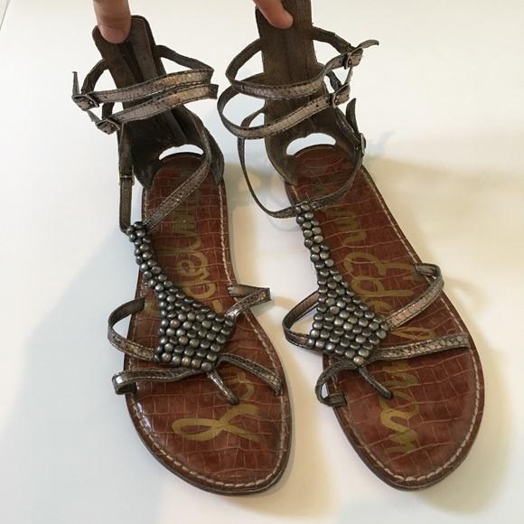 Sam Edelman Ginger beaded gladiator sandals. M 5ac3af353a112e52c8e444e0